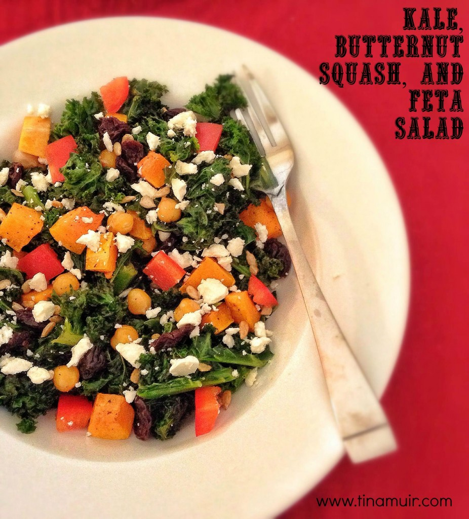 Using fall favorite ingredients to create a delicious, quick salad to speed recovery